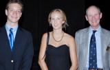 James Peyton Atkins Memorial Scholarship winners Ben Weimer and Sarah Stirrup with MHAA President Childs Burden