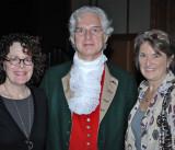Susan Stein, Colonial Gentlemen Jim Hildbold and Leslie Bowman