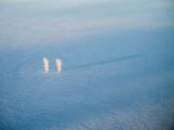 Sous le brouillard, la centrale de Golfech