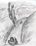 hiking trail -10 mins sketch-