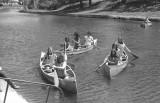 SCS Canoe Team practising on the Lynn River - Simcoe