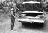Robin Maxwell with the Bristows' '65 Studebaker (the Studmobile - well that's what Eric and I called it)