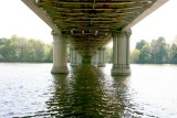 High tide under the bridge.