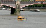 Passing under Lambeth Bridge