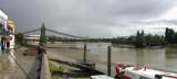 Hammersmith Bridge view from upstream.
