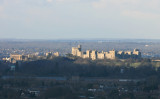 Windsor Castle from the top of the Airforce Memorial at Runnymede