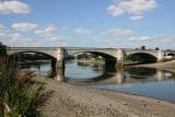 Low tide at the bridge.