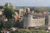 The castle from the top of the wheel, 180 feet above the ground.
