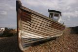Fishing boat beached.