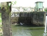 Lower lock gates.