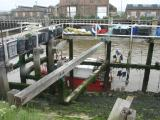 Fishing boat moored in the river Ouse.