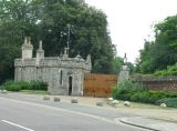 Back gate to castle.
