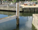 Depth guage at top of lock.