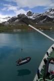 First zodiac out - Grytviken