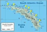 South Georgia landing map
