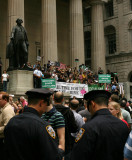 Federal Hall Rally for Nader