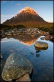 First light on the Buachaille