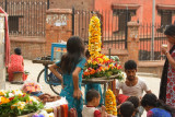 Flowers sellers at the temple
