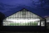 Greenhouse at night