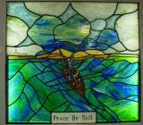 Stained Glass in Chapel aboard Goleulong Lightship