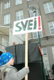 Protesting  the  building of hydro-power-plants in Iceland