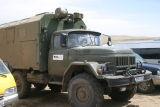 Ex Soviet army truck used for sample run to Ulaan Baatar