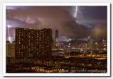 Lightning over Victoria Harbour