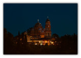 republic of Abkhazia, New Athos Monastery at night (Novy Afon)