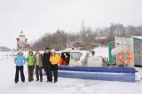 Ladoga lake. Valaam monastery. Our air-cushion boat