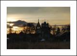Moscow region. Village of Zelenaya Sloboda. Pokrovskaya (Protection of the Virgin) church 1784