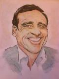 Steve Carell mixed media cartoon