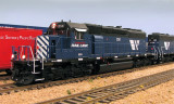 3/4 view of MRL's lone SD40-2 #250