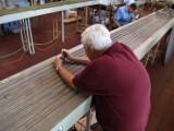 Pulling bridge rails...