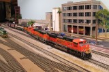 BNSF 9300 leading a unit coal train.