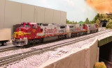 BNSF 852, 599 & 606.
