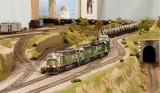 BNSF Ethanol train w/ ex BN power.