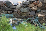 Grass, rope and a stone wall