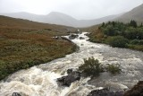 Mountain River in rainy weather
