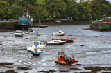 Ebb tide in the Newport River