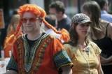 Orange braids