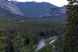 Bow River, with Banff Springs Hotel in background