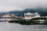 Statendam and Golden Princess docked in Juneau