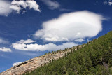 Clouds above Sinks Canyon