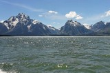 Mount Moran, Bivouac Peak and Rolling Thunder Mountain, on Jackson Lake