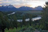 Teton Range, from the Snake River Overlook