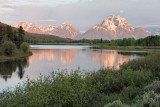 Teton Range at dawn, from Oxbow Bend