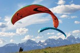 Preparing to paraglide