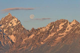 Moon setting over Grand Teton