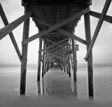 Pawleys Island Pier 1 bw.jpg