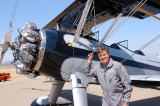 Bill Allen Jr and his fully restored 1941 Stearman PT-17